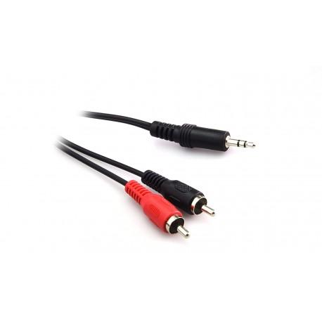 GBL Cable 3.5mm estéreo / 2 x RCA 3 metros